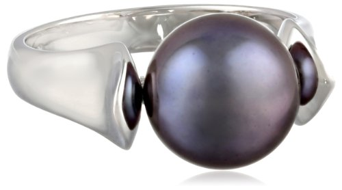 Honora-Black-White-Black-Freshwater-Cultured-Pearl-Ring-Size-7