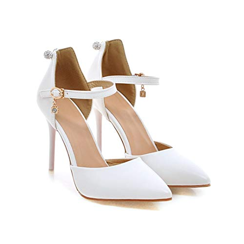 Houndstooth Pump Heel High (GanQuan2018 Women D'Orsay Pumps Kitten High Heels Pointed Toe Ankle Buckle Party Wedding Shoes)