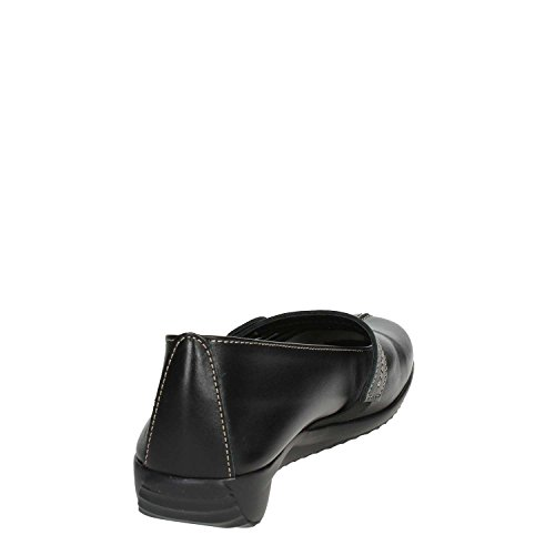 Women 005 Cinzia Ballet Soft Black Flats IE7072 fzq6SP