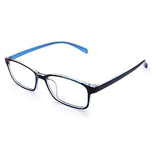 jcerki Blue Lightweight Frame Bifocal Clear Lens Reading Glasses 2.50 Men Women Fashion Light Bifocal Eyeglasses