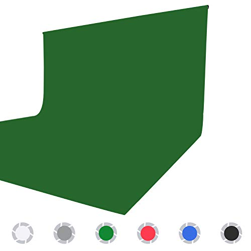 Issuntex 5X7 ft Green Background Muslin Backdrop,Photo Studio,Collapsible High Density Screen for Video Photography and Television(Green,5X7ft