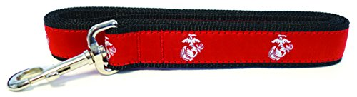 Son Sales, Inc. United States Military Logo Dog Leash (Medium/Large Dogs, 1 1/4 Inch, Marine Corps)