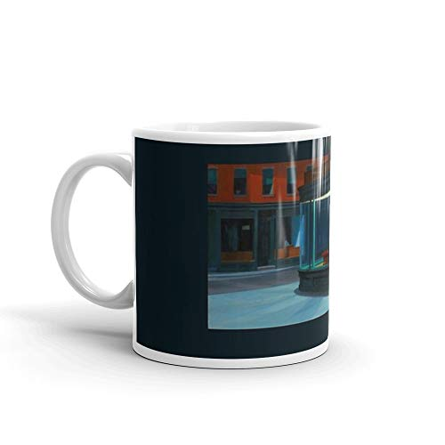 - Nighthawks by Edward Hopper (1942) Mug 11 Oz White Ceramic