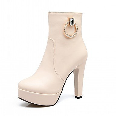US5 Rhinestone Boots Chunky Pu Novelty Winter UK3 5 Shoes Fashion 5 Heel Fall CN35 RTRY Leatherette Boots Round Ankle Women'S Toe Booties Comfort For EU36 Boots RTEPqgwUx