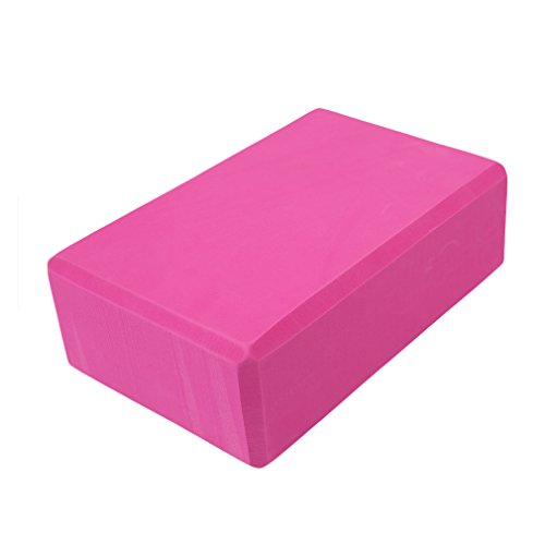 HENGSONG Yoga Blocks EVA Foam Brick for Yoga, Workout, Fitness & Gym (Hot Pink)