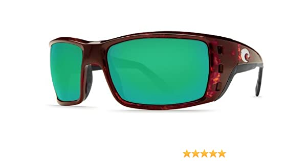 fa938d1048 Amazon.com  New Costa Del Mar Permit 580G Tortoise Green Mirror Polarized  Lens 59mm Sunglasses  Clothing