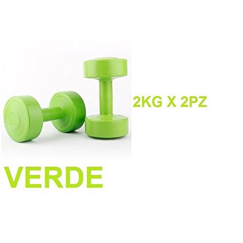 LiveUP Sports - 2 x 2Kg Mancuernas Peso Cemento Revestimiento Plástico Entrenamiento Home Fitness: Amazon.es: Deportes y aire libre