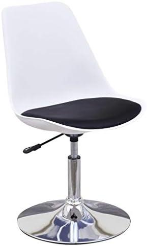 Xingshuoonline Lot de 2 chaises de Salle à Manger, Hauteur réglable, pivotantes, Noir et Blanc