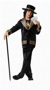 Pimp Daddy Costumes (Mac Daddy Pimp Child Halloween Costume Size 8-10 Medium)