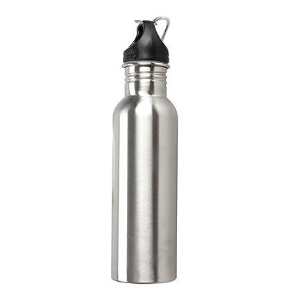 Amazon.com: Botella de agua con gancho de acero inoxidable ...