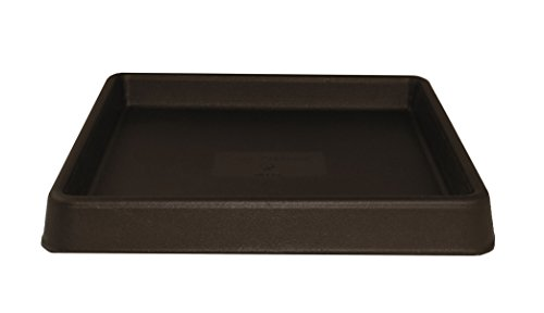 Tusco Products TRSQ15ES Square Saucer, 15-Inch, Espresso by Tusco Products