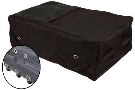 Tough 1 Deluxe Rolling Hay Bale Carrier Navy - Rolling Bale Bag