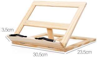 Kochbuchhalter Bambus ca 24 x 32 x 18 cm Buchst/ütze f/ür K/üche und B/üro Rezepthalter mit 3 Neigungsstufen als Buchst/ütze und Lesest/änder by ARTUROLUDWIG