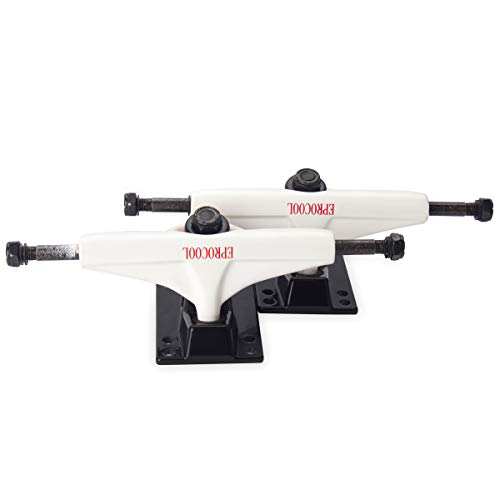 Eprocool 5.0 Skateboard Trucks Aluminium Alloy (2pcs) (Gloss White, 5 inches)