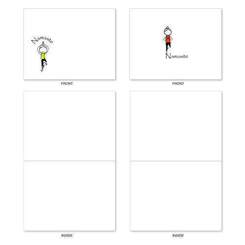 M3963 Namaste Notes: 10 Assorted Blank All-Occasion Note Cards Feature Zen Serenity Yoga Poses, w/White Envelopes. Photo #5