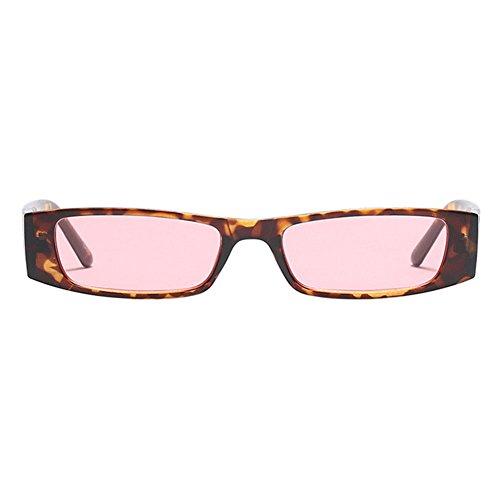 Cornice Polarizzati Hzjundasi Retro Da In Cornice Chic rosa Donna piccola Leopard Rettangolare Eyewear Vintage Lenti Occhiali Plastica Sole SUpMVGqz