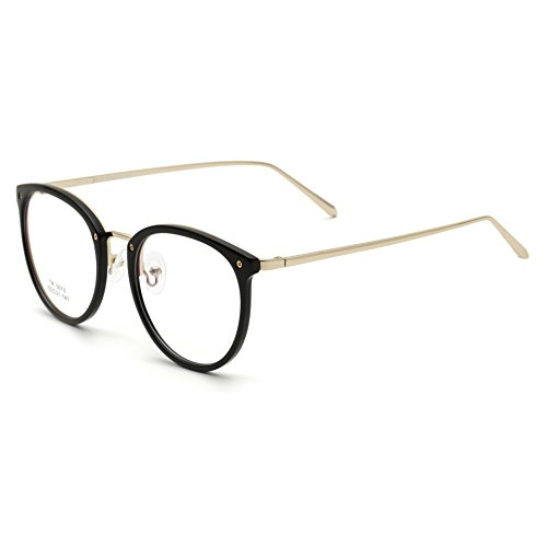 f710dd352e22 Simvey Vintage Inspired Eyeglasses Frame Oversized Round Circle Clear Lens  Glasses
