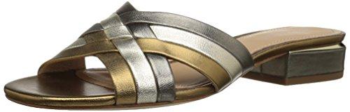 Pour La Victoire Women's Malena Slide Sandal, Gold, 6.5 M US
