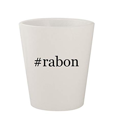 #rabon - Ceramic White Hashtag 1.5oz Shot Glass for sale  Delivered anywhere in USA