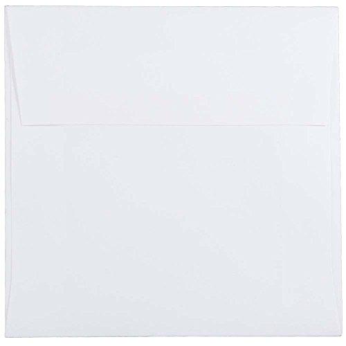 JAM PAPER 5 1/2 x 5 1/2 Square Invitation Envelopes - White - 25/Pack by JAM Paper