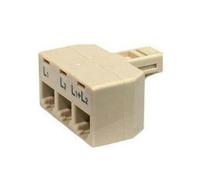 Steren 4-Conductor 2-Line Split Adapter