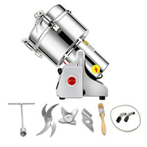 2500g Commercial Electric Grain Grinder Mill Spice Grinder Grain Powder Grinder Grinding Machine Chinese medicine Spice Herb Grinder Flour Mill Pulverizer Food Grade Stainless Steel CE approved by CGOLDENWALL (Image #1)