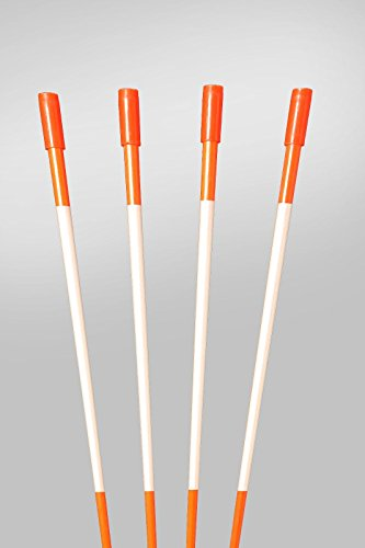 60'' FLUORESCENT ORANGE 200 Driveway Markers, Reflective Snow Stakes, Plow Stakes,5/16'' Thick X 60'' ORANGE Fiberglass Stakes , 200 Pack 5 FT. TALL by PlowStakes.com