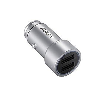 AUKEY Cargador de Coche Dos USB Puertos 3,4A con AiPower Tecnología para iPhone, iPad Pro/Air, Samsung y Más