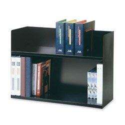 STEELMASTER Two-Tier Steel Book Rack, 29.13 x 20 x 10.38 Inches, Black (26423BRBK)
