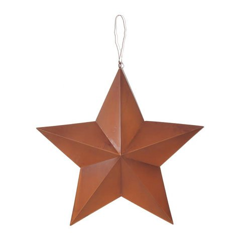 Bulk Buy: Darice DIY Crafts 3-D Star Rustic Metal 18 inches (12-Pack) 6556-84