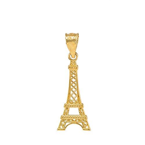Fine 14k Gold Eiffel Tower Charm Charm Pendant