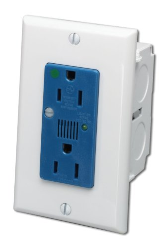 Outlet Single 15 Amp Circuit - Leviton 47605-ACS J-Box Surge Protective Kit, Single AC Power Module
