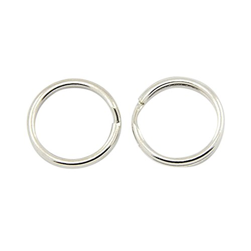 NBEADS 1000PCS Iron Round Edged Split Circular Ring Key Rings Key Chain Ring Clips for Home Car Keys Organization - 0.59