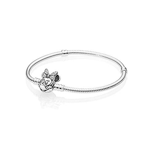 PANDORA Disney, Shimmering Minnie Portrait Bracelet 925 Sterling Silver, Size: 21cm, 8.3 inches - 597770CZ-21