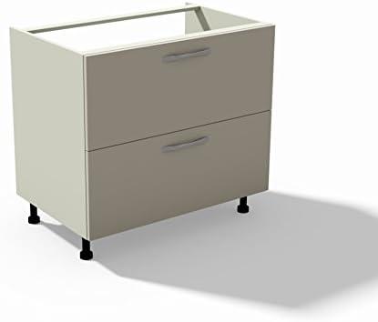 MOD Tosend Servizi sas Base lavello per Cucina componibile cm L90 2 Ante Zenzero Colore Bianco Opaco