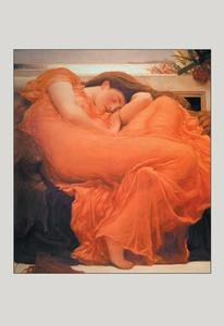 30 x 20 Stretched Canvas Poster Flaming June