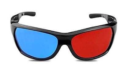 1d1d743df6 Gafas 3D rojo / cian (gafas anaglifo 3D) gafas 3D de calidad para juegos de  PC en ...