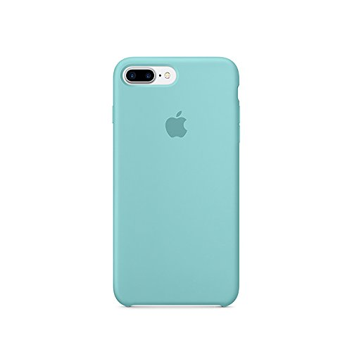 Optimal shield Soft Leather Apple Silicone Case Cover for Apple iPhone 7plus (5.5inch) Boxed- Retail Packaging (Sea Blue)