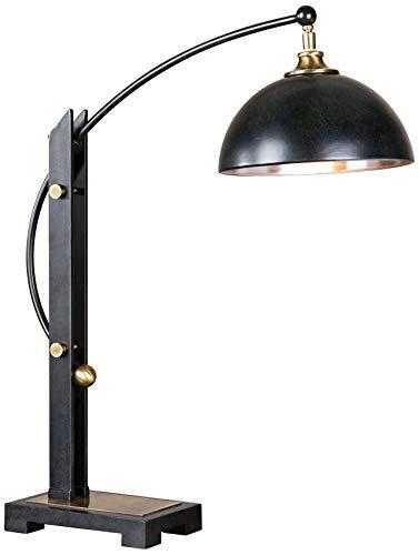 Uttermost 29587-1 Malcolm Oil Rubbed Bronze Desk Lamp - Hudson Transitional Lamp Table