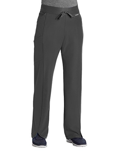 Jockey Scrubs Performance RX by Jockey 2428 Women's Get-Up-and-Go Scrub Pant- Charcoal- X-Large Tall
