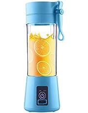 Bärbar mixer – bärbar juicemugg-elektrisk fruktmixer-USB-juiceblandare, uppladdningsbar USB-juiceflaska för juice – miniblandare – för smoothie, fruktjuice, mjölkkar 380 ml, sex blad