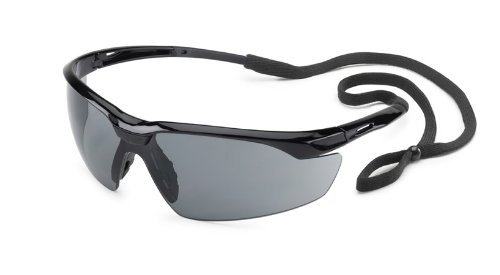 Gateway Safety 28GB83 Conqueror Wraparound Eye Safety Glasses, Gray Lens, Black Frame