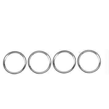 Cromado ABS Puerta Anillo embellecedor de altavoces estéreo 4 piezas para coche accesorios lrdssp: Amazon.es: Coche y moto