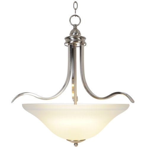 Majestic Nickel Pendant - Monument 617247 Sanibel Pendant, Brushed Nickel, 21 X 22 In.