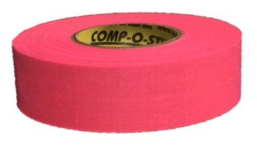 3 Rolls of Comp-O-Stik NEON PINK Hockey Lacrosse Bat Cloth Stick Tape ATHLETIC TAPE (3 Pack) Made In The U.S.A. 1'' X 20 Yards