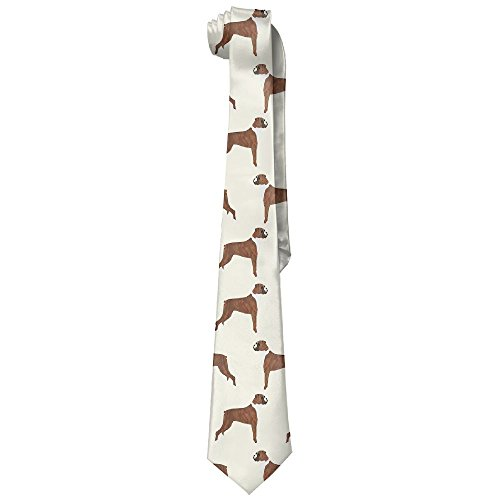 XINYE-tie Mens Boxer Dog Lover Pet Pattern Wide Novelty Long Necktie Tie - Necktie Boxer