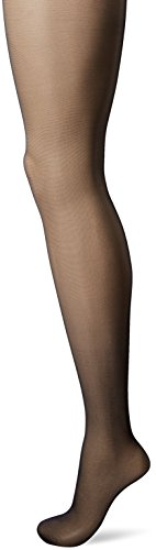 Smoother Sheer Control Top Pantyhose - Hanes Silk Reflections Women's Waist Smoother Extended Control Top Pantyhose, Jet, C/D