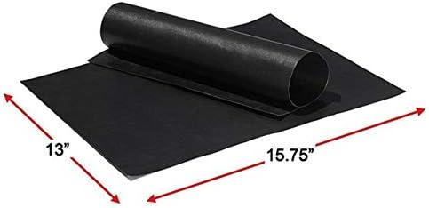 Tapis de barbecue réutilisable Fibre anti-adhésive pour tapis de barbecue Feuille Plaque chauffante Accessoires de barbecue en aluminium faciles à nettoyer (noir) FRjasnyfall