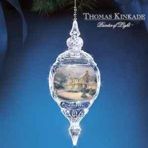 Thomas Kinkade 2006 Holiday Memories Annual Crystal Ornament