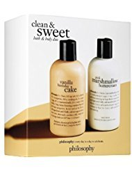 Philosophy - Clean and Sweet Bath & Body Duo - Vanilla Birthday Cake Shampoo/Pink Marshmallow Buttercream body lotion